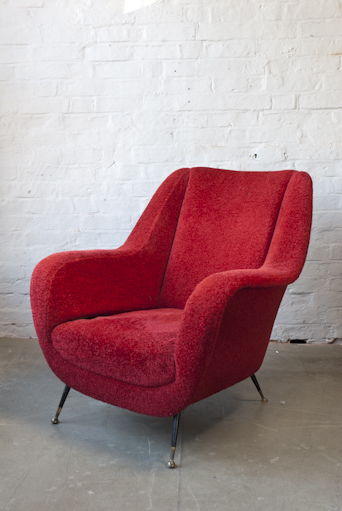 FURRY RED ITALIAN CHAIR