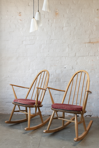 PAIR OF ERCOL ROCKING CHAIRS