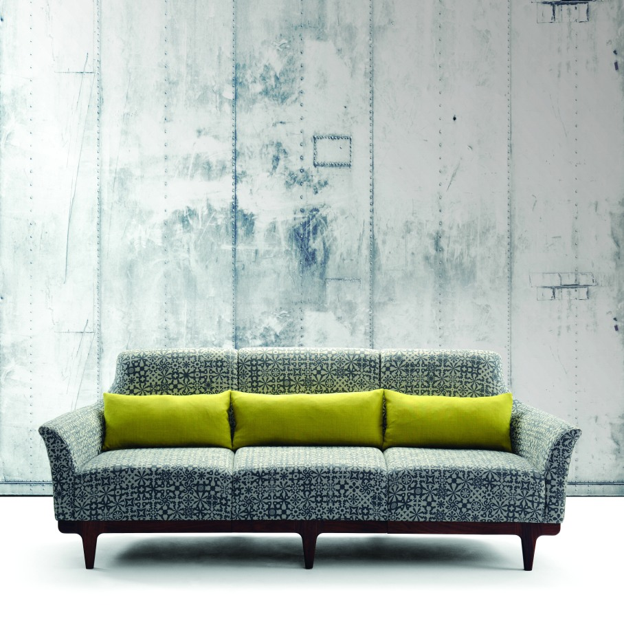 Morgan Modena Three Seat Sofa Lime