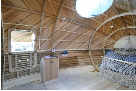 Interior of Exbury Egg Photo courtesy of Nigel Rigden